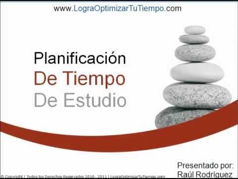 Planificación de tiempo de estudio (planificación de tiempo)