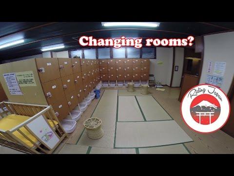 Inside a Japanese pubic bath, hot springs, hotel b