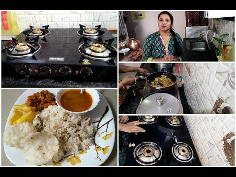 My new glass top stove/Afternoon lunch routine with tips for rainy season/Indianmom busy lifestyle