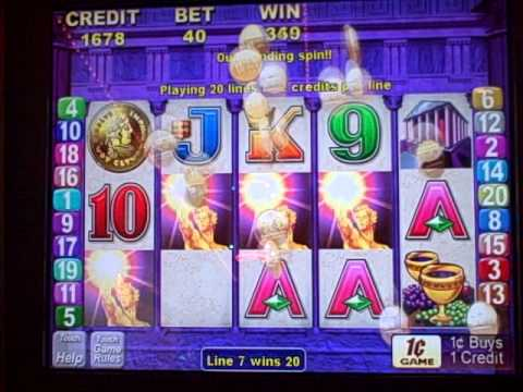 jackpot wins on $1 slots flame of olympus