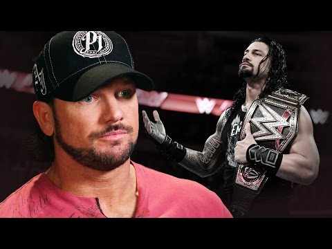 AJ Styles vows to knock the chip off Roman Reigns' shoulder: April 6, 2016