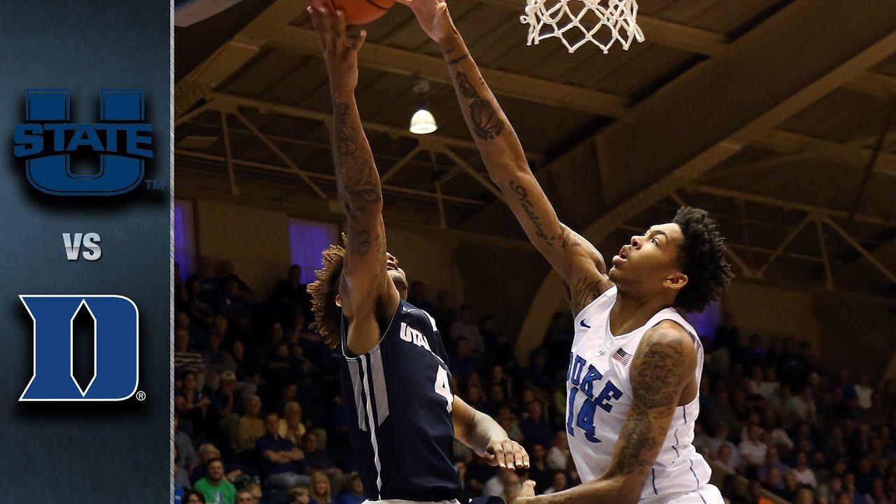 Duke vs. Utah State Basketball Highlights (2015-16)
