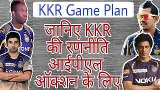 Game Plan For IPL Auction 2018: KKR Team Full Game Plan For IPL Auction 2018 |