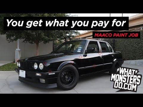 Maaco Paint Job Review BMW E30 - You Get What You Pay For