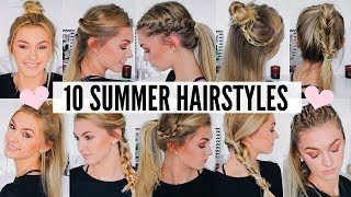 10 CUTE & EASY SUMMER HAIRSTYLES