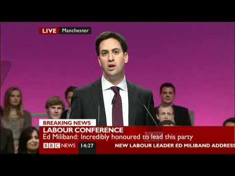 Ed Miliband Full Speech to Party Conference 28/09/2010 - Part 1