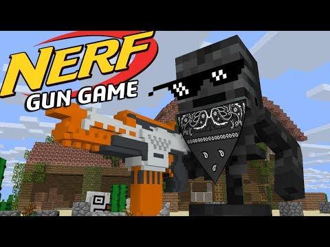 Monster school: EPIC NERF GUN GAME - Minecraft Animation
