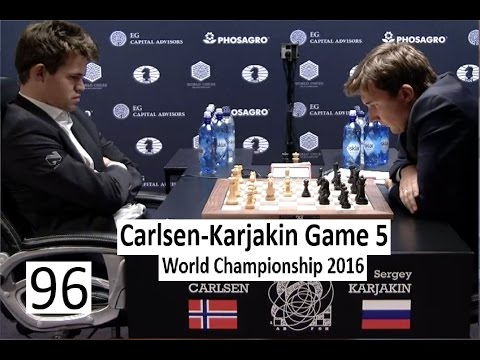 Carlsen-Karjakin Game 5 World Championship 2016