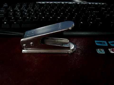 Micro SIM Cutter - Como usar, corte em segundos - Micro Chip iPhone 4 e iPad
