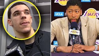 "Lonzo Ball CURSES OUT LEBRON JAMES ""You TRADED ME"" & Anthony Davis IS EXCITED ""WE WILL WIN"""