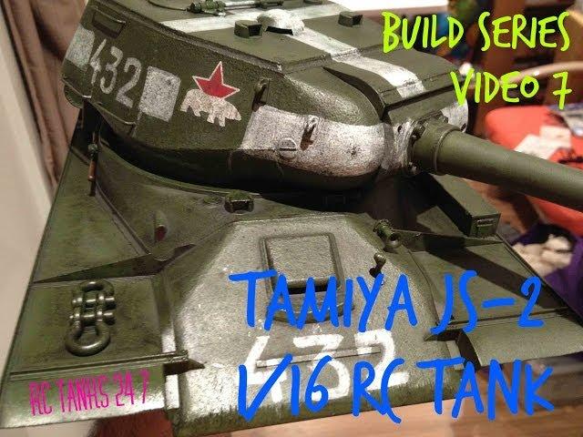 Tamiya JS-2 1/16 RC Tank Build Series Video 7