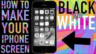 BLACK & WHITE iPHONE SCREEN