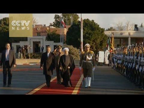 Iranian President Hassan Rouhani visits Italy