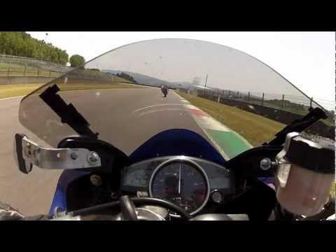 Mugello 30giu12 Giova R6 on board primo turno con Miki96 CBR600.MP4