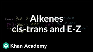 cis-trans and E-Z naming scheme for alkenes | Alkenes and Alkynes | Organic chemistry | Khan Academy