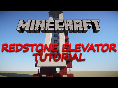 Minecraft - Redstone Elevator Tutorial SUPER FAST (1.8.1)
