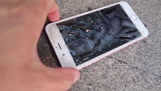 BROMAS DIVERTIDAS 😂 REACCIÓN IPHONE PEGADO AL SUELO 📱 Itarte Vlogs