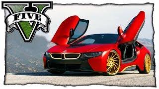 ТЕСТ ДРАЙВ И КРАШ ТЕСТ BMW i8 - GTA 5 МОДЫ! ВИДЕО ОБЗОР МОДА ИГРЫ ГТА 5 MODS