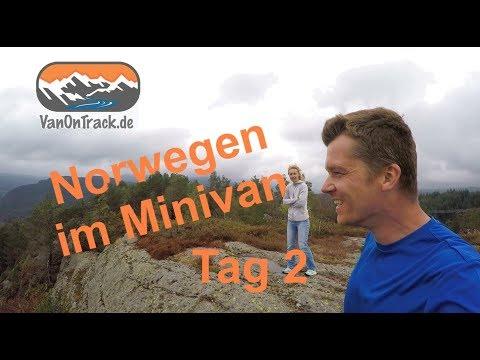 Norwegen im Minicamper  Tag 2 mit VanOnTrack Helleren