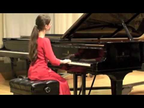 Fourteen-year-old Marie Kelly playing Prelude and Fugue XV in G Major, BWV 860, by J.S. Bach
