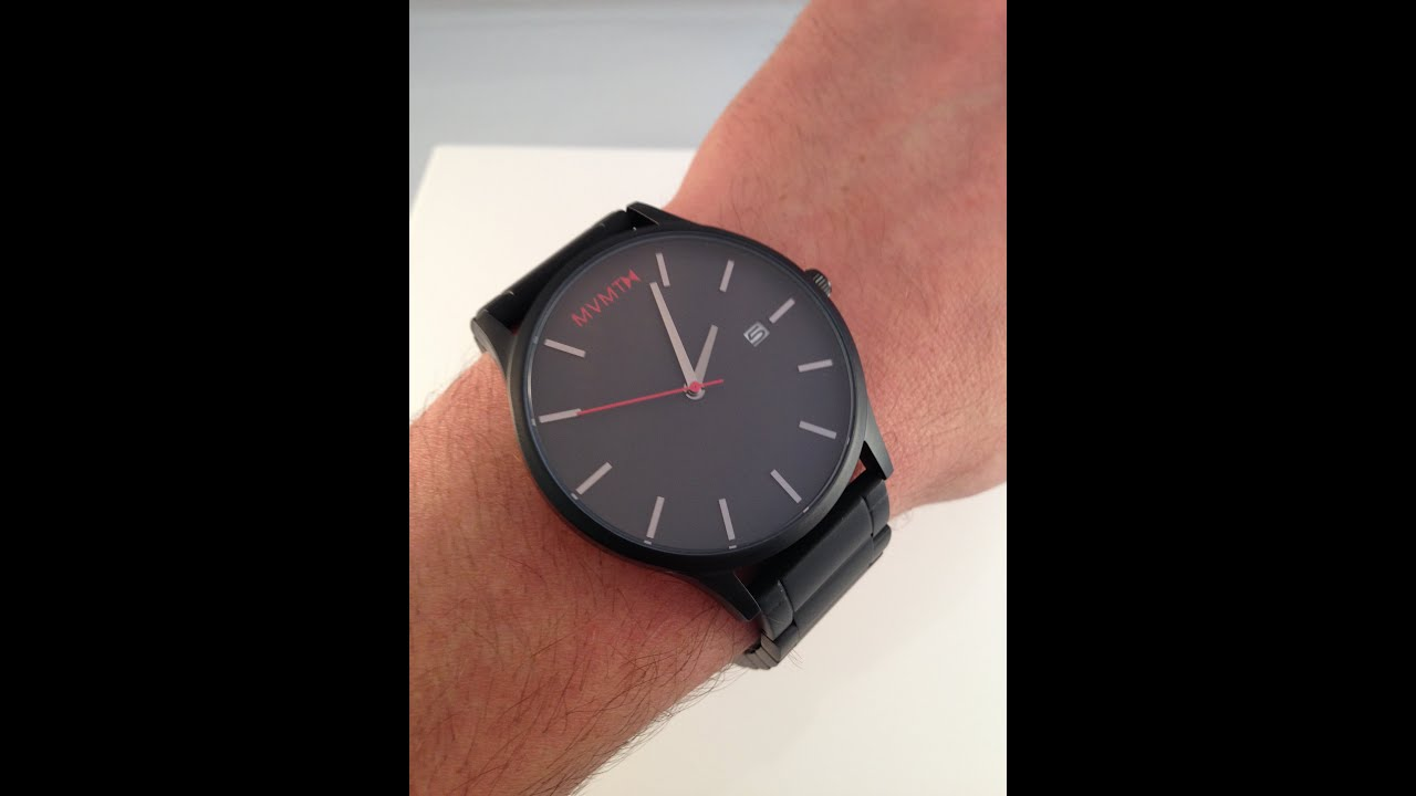 Mvmt watches black black video watch review youtube for Mvmt watches