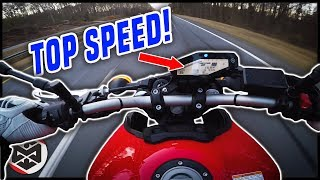 Yamaha MT-09 TOP SPEED CHALLENGE!