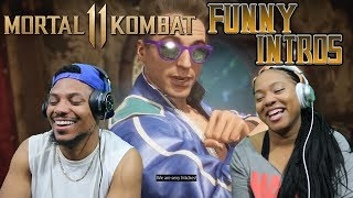 MORTAL KOMBAT 11 ALL Funniest Intro Dialogues REACTION!