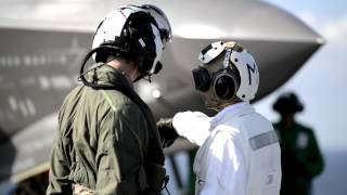 RAF Pilot performs first UK takeoff of F-35B Lightning at sea