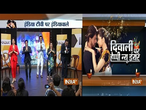 Shahrukh Khan, Deepika Padukone with Team ' Happy New year ' Exclusively on India TV