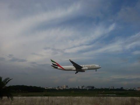 Landing a air plane at Shahjalal International Airport Bangladesh