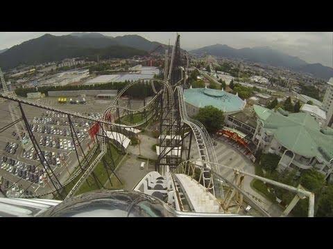 Fujiyama Roller Coaster POV Front Seat & Back Seat Fuji-Q Highland Japan フジヤマ