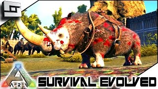 ARK: Survival Evolved - 150 WOOLLY RHINO! S4E37 ( The Center Map Gameplay )