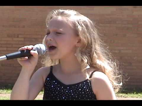 Talented child singing Temporary Home by Carrie Underwood