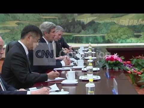 CHINA:JOHN KERRY AND CHINESE PRES XI JINGPING