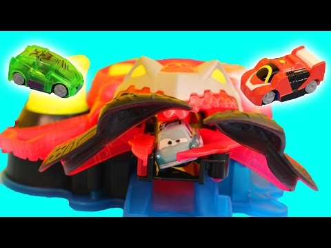 Micro Chargers Cyber Squid Attack with Disney Pixar Cars Lightning McQueen Professor Z Lemons
