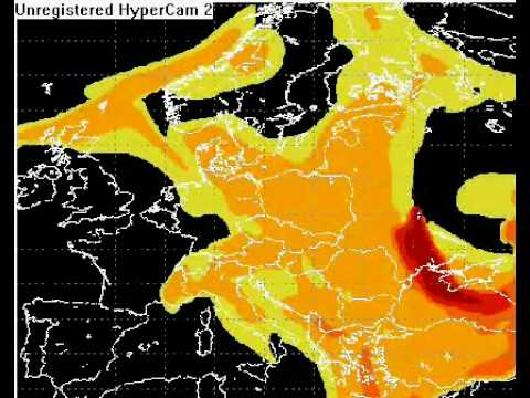 Radioactive Cloud/Fallout Over Europe From the Chernobyl Disaster