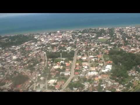 Landing in La Ceiba, honduras