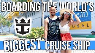 Royal Caribbean Cruise Vlog Boarding The Symphony of the Seas (World's BIGGEST Cruise Ship)
