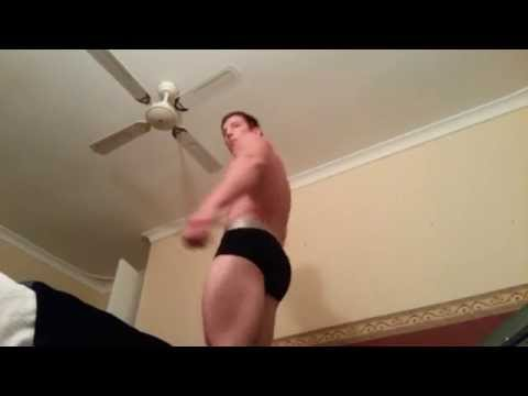Natural bodybuilding competition posing practice