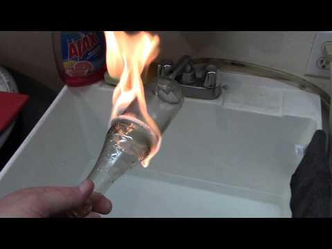 String cut videolike for Cut glass bottle with string and fire