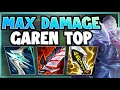 HOW CAN ANY CHAMPION SURVIVE AGAINST THIS GAREN?? MAX AD GAREN TOP GAMEPLAY! - League of Legends thumbnail