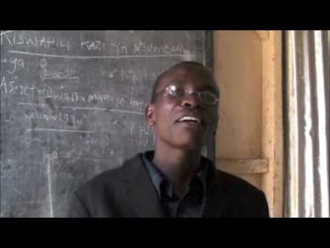 Teacher George at REM School, Mitumba Slum - South C Nairobi