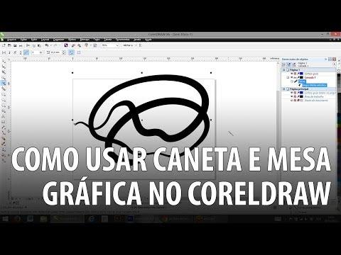 Como usar caneta e mesa gráfica no CorelDRAW