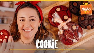 3 TIPOS DE COOKIE: tradicional, red velvet e brownie | Tábata Romero | Doces para vender