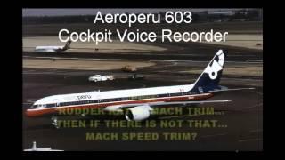 Aeroperu 603 - Cockpit Voice Recorder