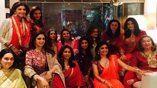 Sridevi, Shilpa Shetty & Raveena Tandon At Karva Chauth Celebration 2015