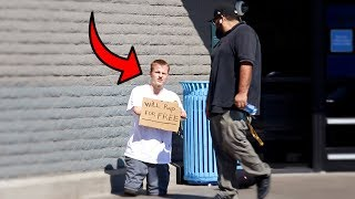 HOMELESS MAN RAPS FOR STRANGERS!!