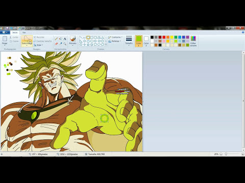 drawing broly LSS in ms paint. (dibujando a broly ssL en paint)