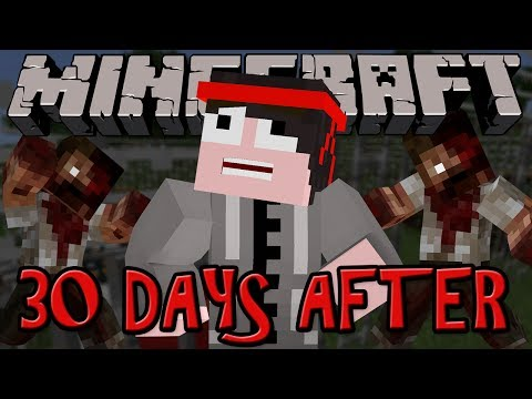 Minecraft Mod Review: 30 DAYS AFTER THE ZOMBIE APOCALYPSE!!!