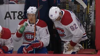 Gotta See It: Drouin follows up goal by pulling down pants on bench for some reason
